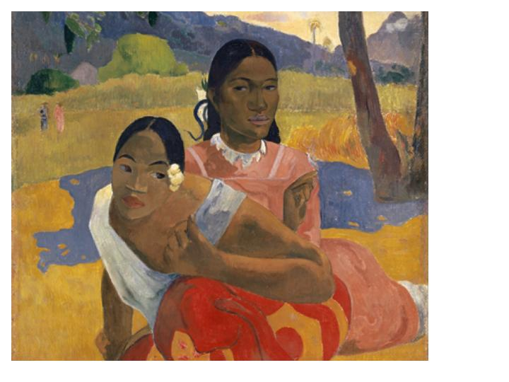 """Gaugin's, """"When Will You Marry?"""" sold for a whopping $300M in 2015."""
