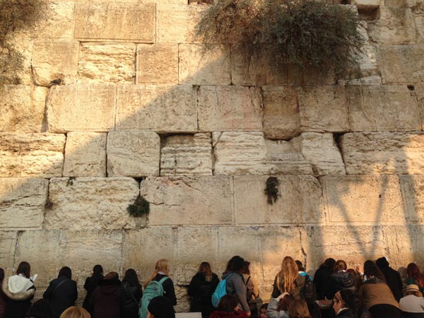 The Western Wall. Was a very intense feeling witnessing all these women and their respective ways of worship. The energy was very intense at this holy site.