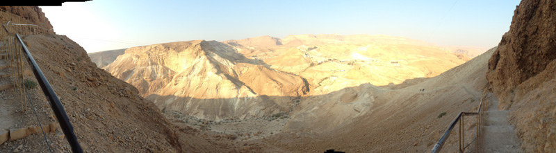 Sunrise hike to the top of Masada.