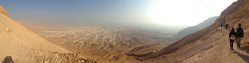 Another amazing panorama of the hike to the Masada summit.