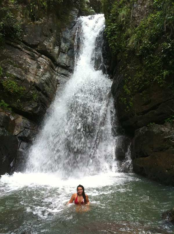 After hiking through the jungle, stumbled upon a waterfall, no one else in sight!