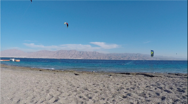 A view across the Red Sea to Jordan.