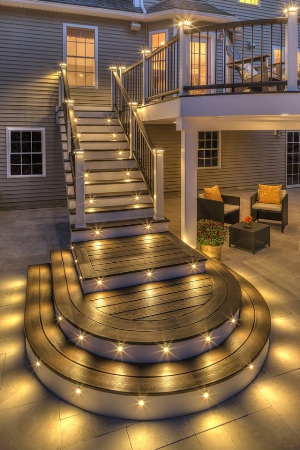 Stair lighting can be magical.