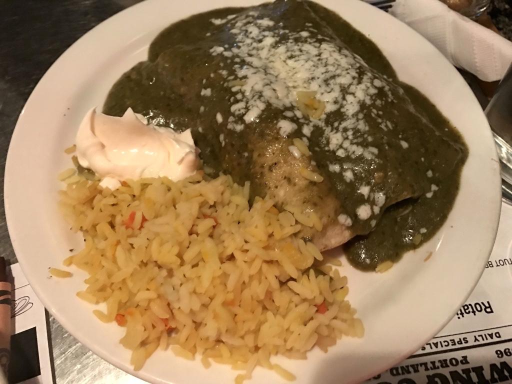 Alameda Brewing enchiladas