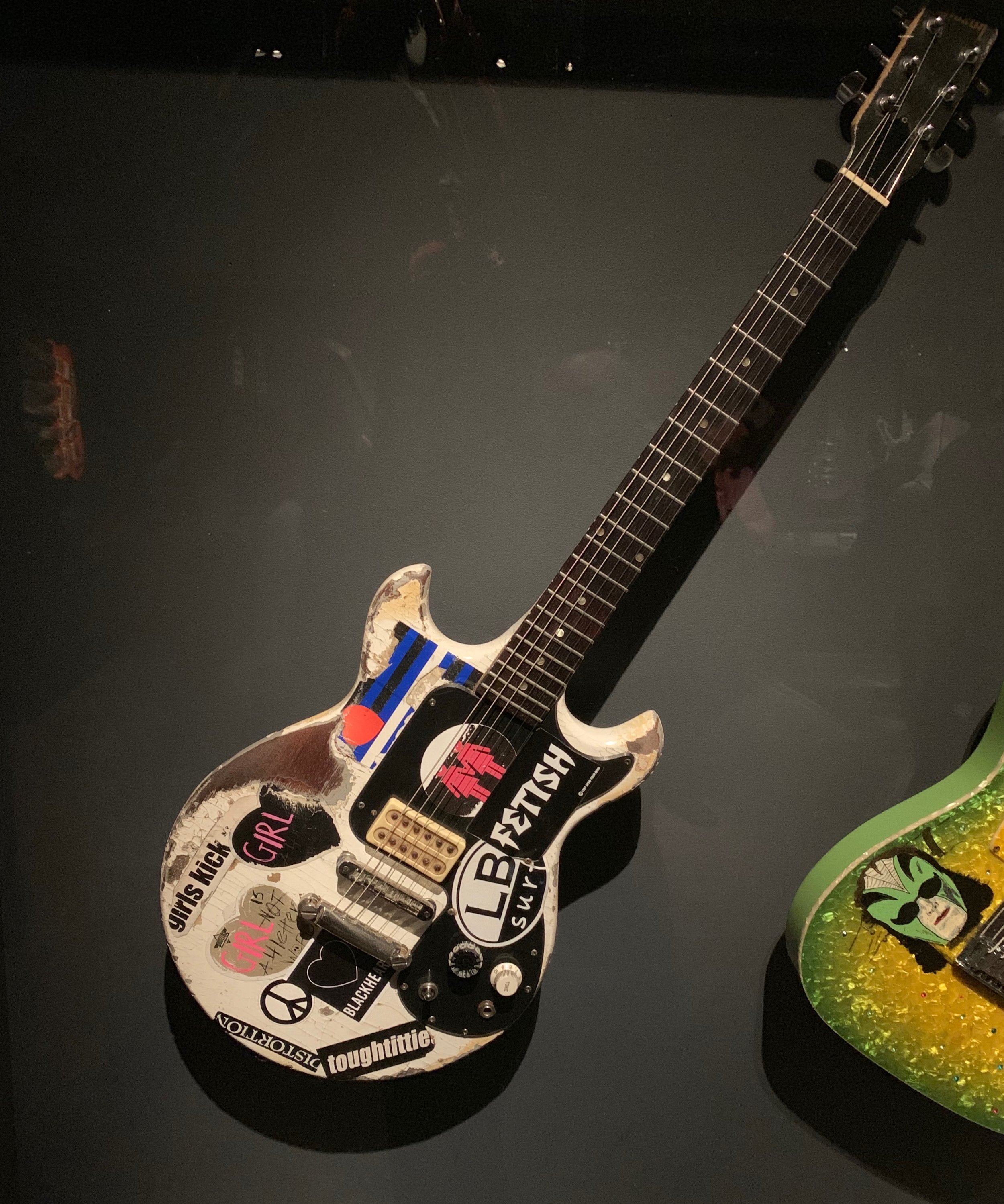 "Joan Jett, of the Runaways and the Blackhearts, used this Gibson to record such hits as ""I Love Rock 'n' Roll"" & ""Bad Reputation."""