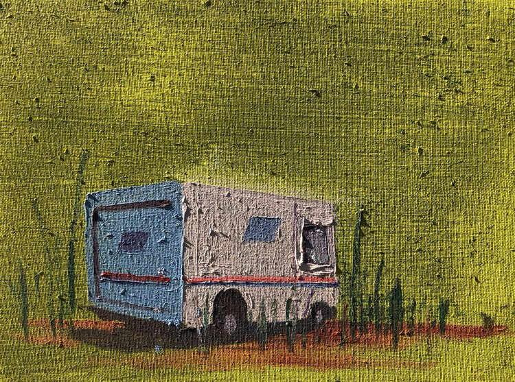 "Paature , 2017 9"" x 12"" oil on canvas"