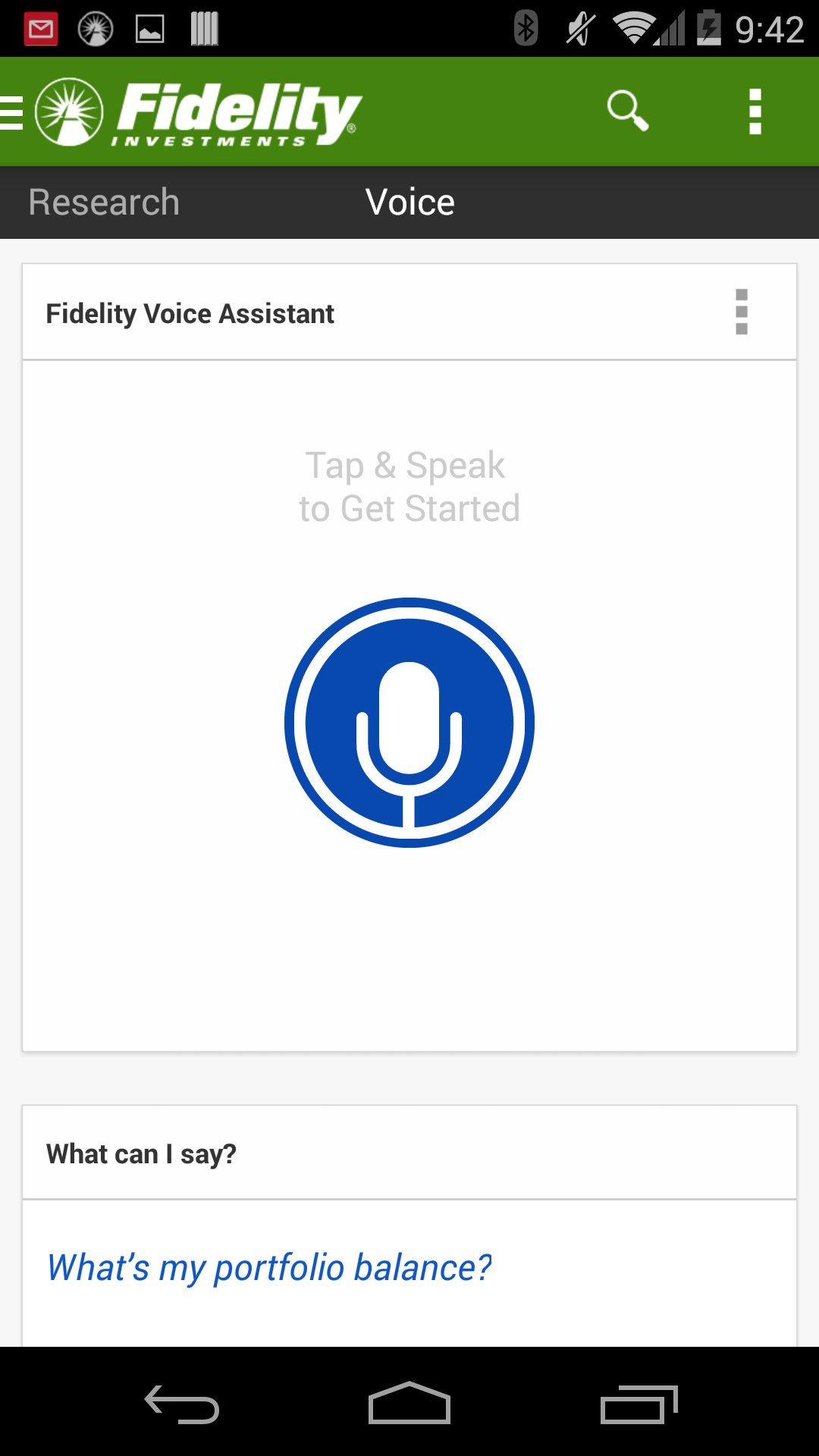 First iteration of our Android Voice Assistant. Active state.