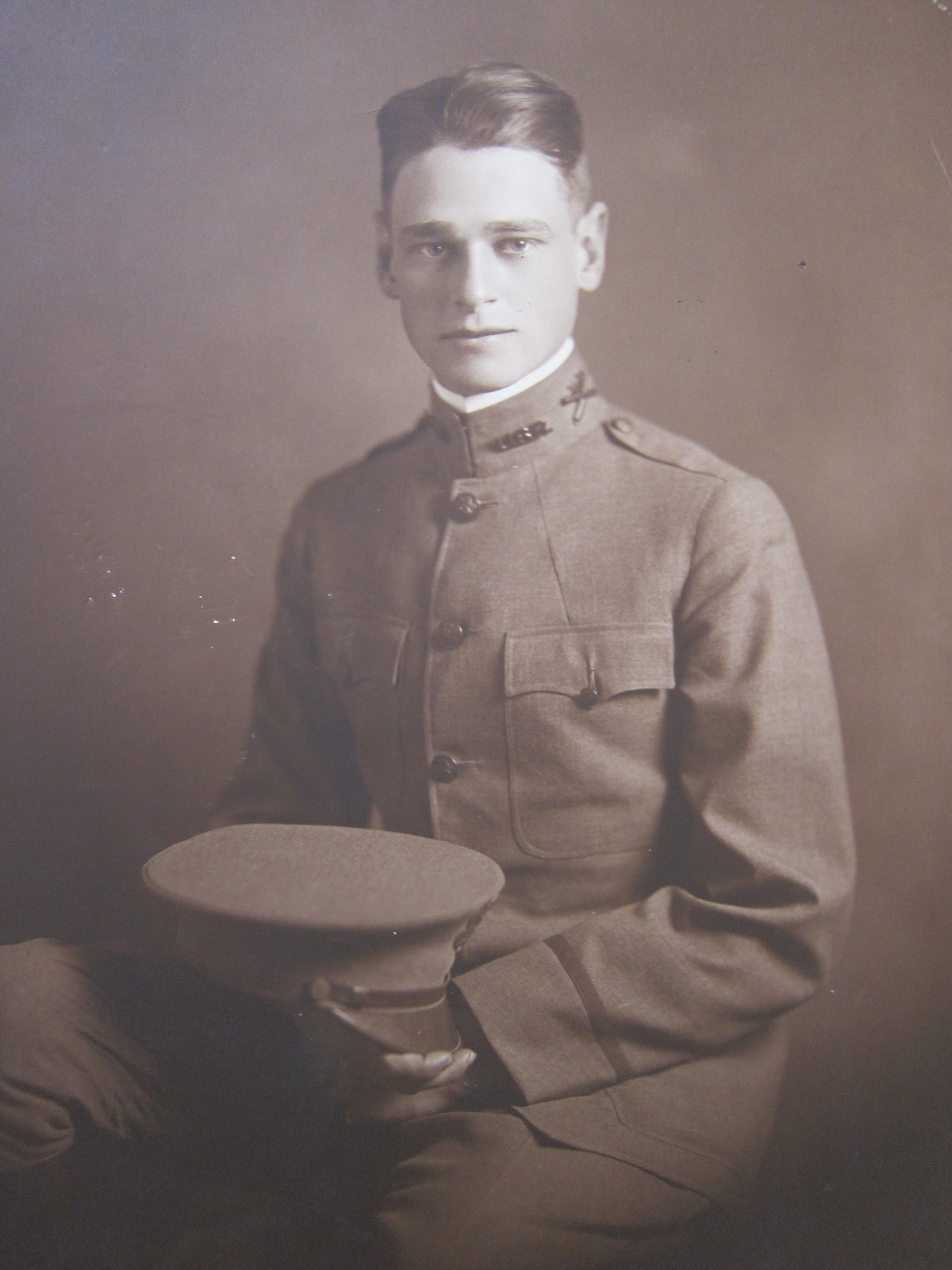 Donald Fullerton, Princeton Class of 1913 and the founder of the princeton evangelical fellowship, in his first world war uniform
