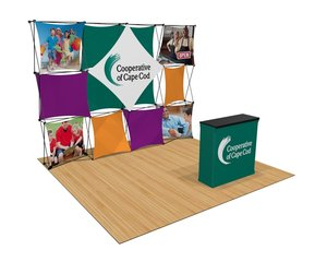 4 X 3, 10ft x 8ft 3D Snap Display, front case-counter-conversion