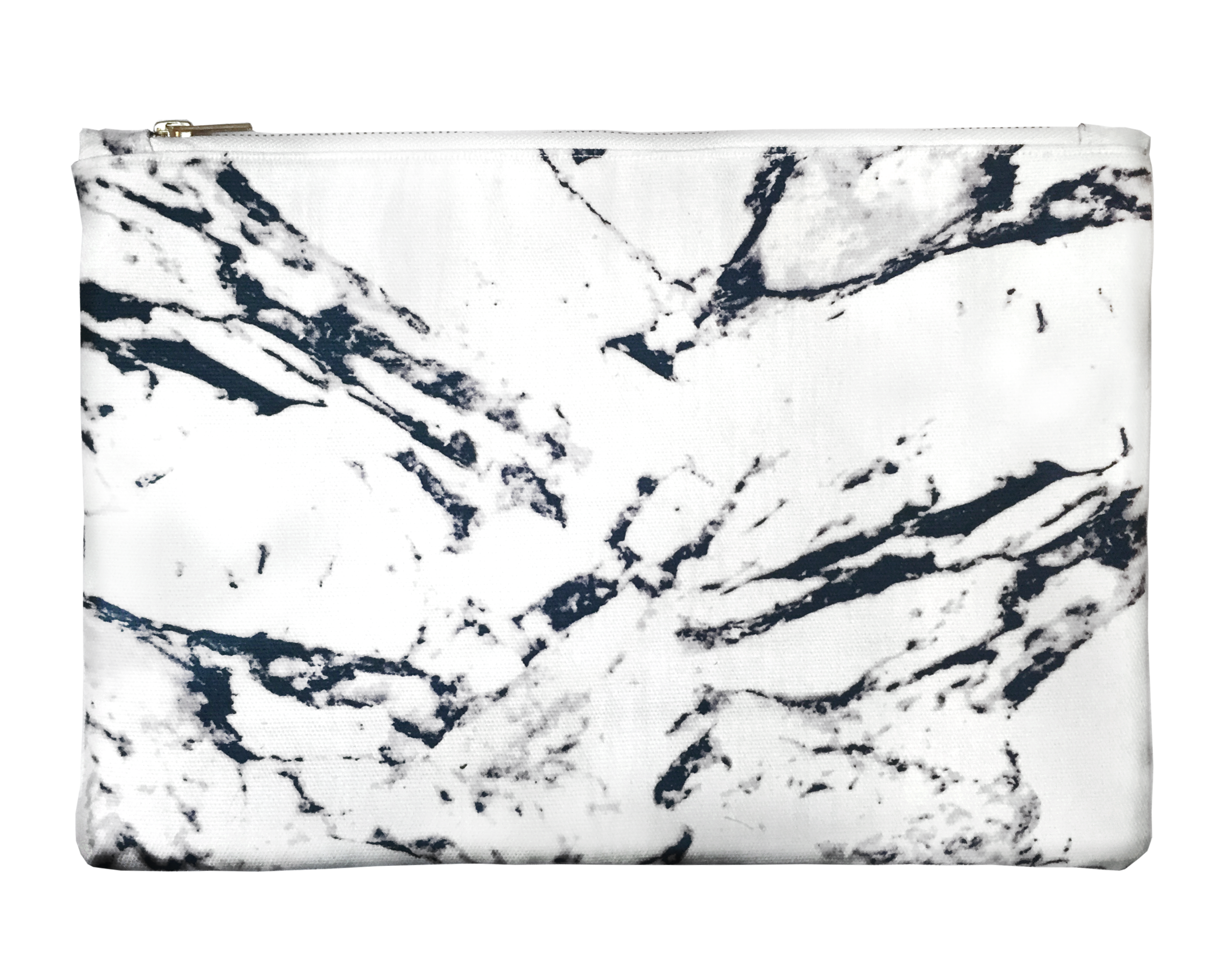 White marble printed on soft cotton fabric.