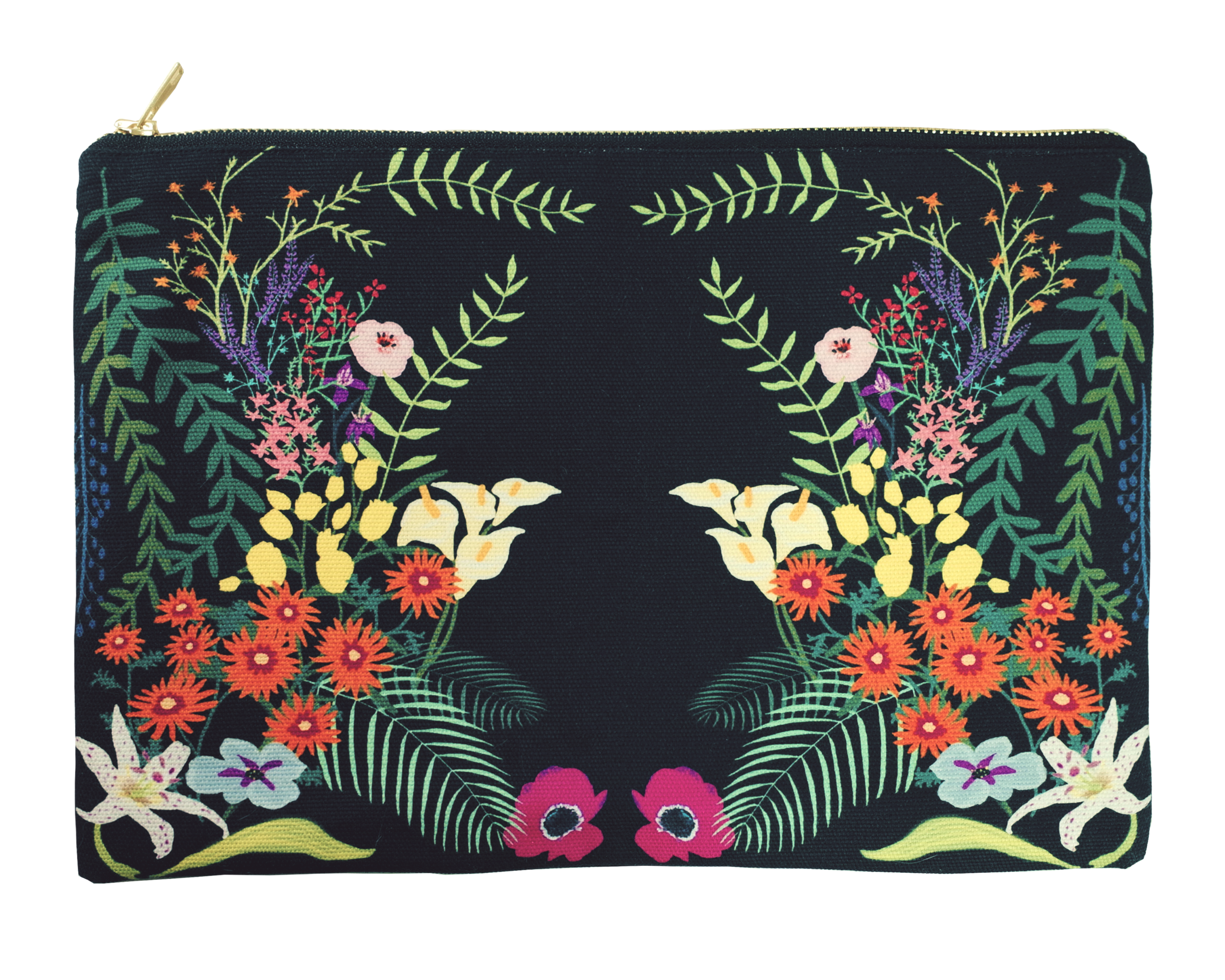 This print is inspired by Brazilian garden at night.