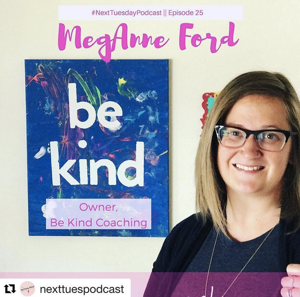Click the photo to listen to me chat about building and growing Be Kind Coaching and Kind Club!