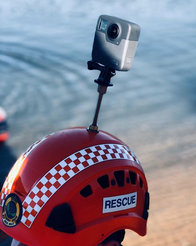 The new Fusion from GoPro .. great piece of kit for VR 360 capture. Used today to show the viewer how our amazing volunteer rescuers go about serious work 👌🏽