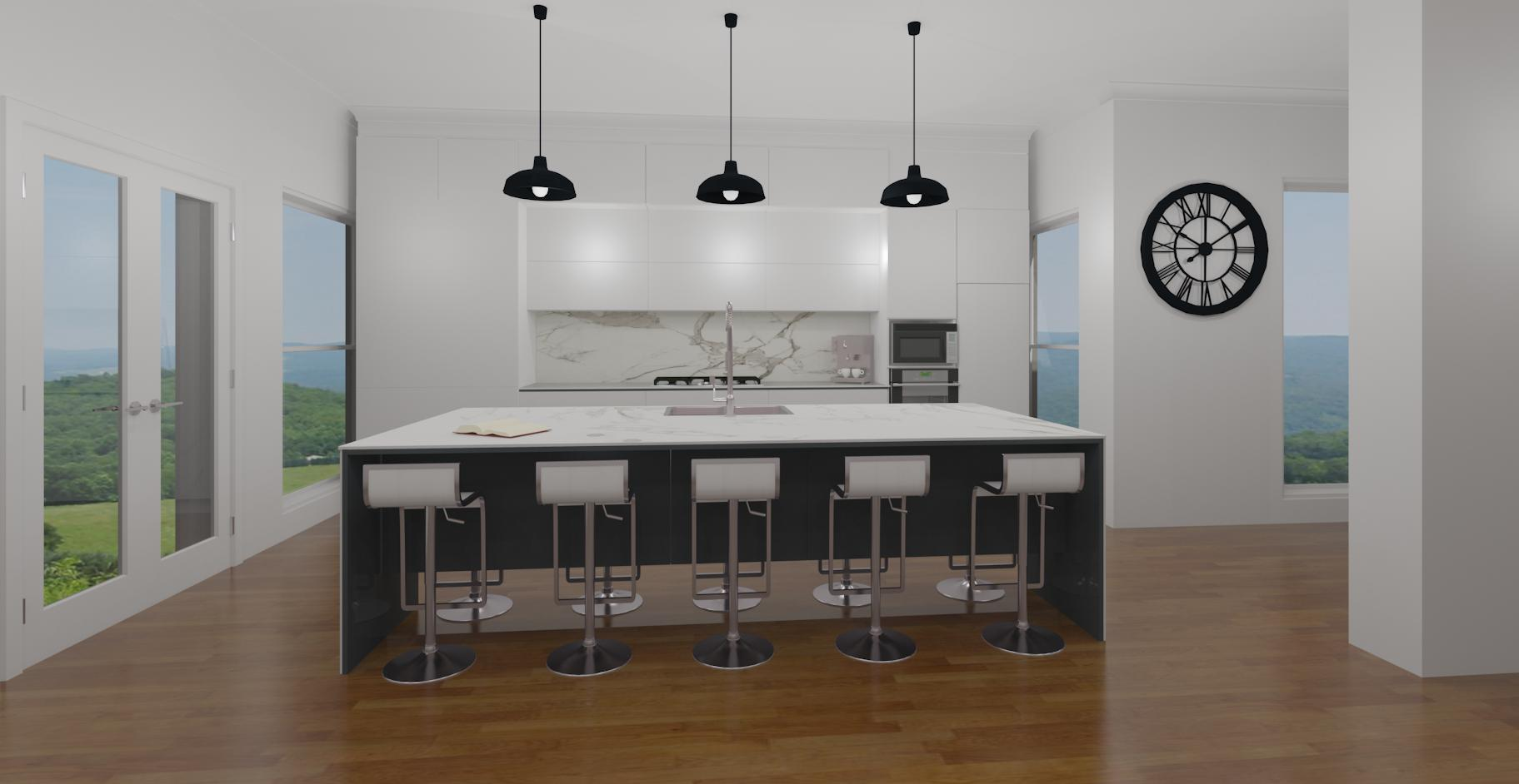 Hi detailed 3D kitchen perspective