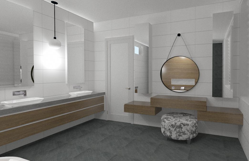 High detailed 3D bathroom perspective