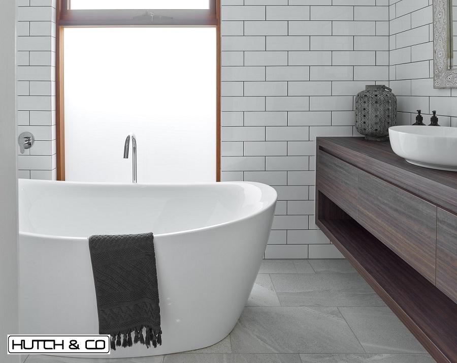 dark timber custom designed vanity