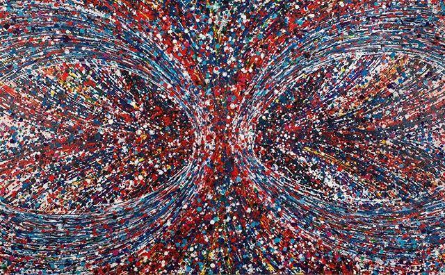 "Torus, 30""x 40"". See more at aaronmorseart.com #art #abstractart #aaronmorseart #painting #modernart #acrylicpainting #contemporaryart"