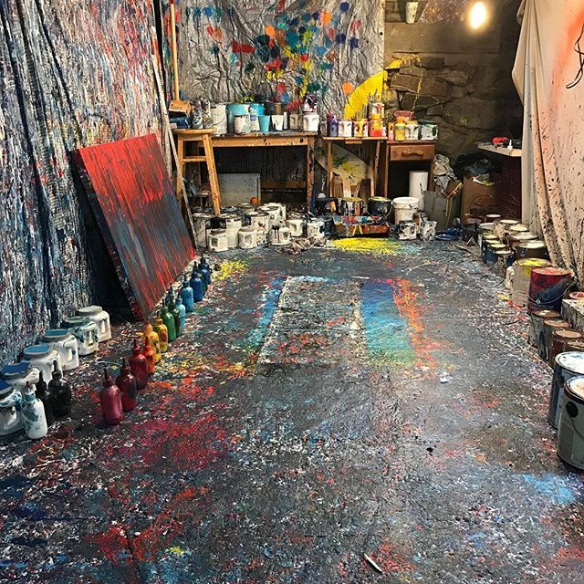 Last shot of studio 151.  Moving to a new place... This is where it all began and it will be missed. #aaronmorseart #artstudio