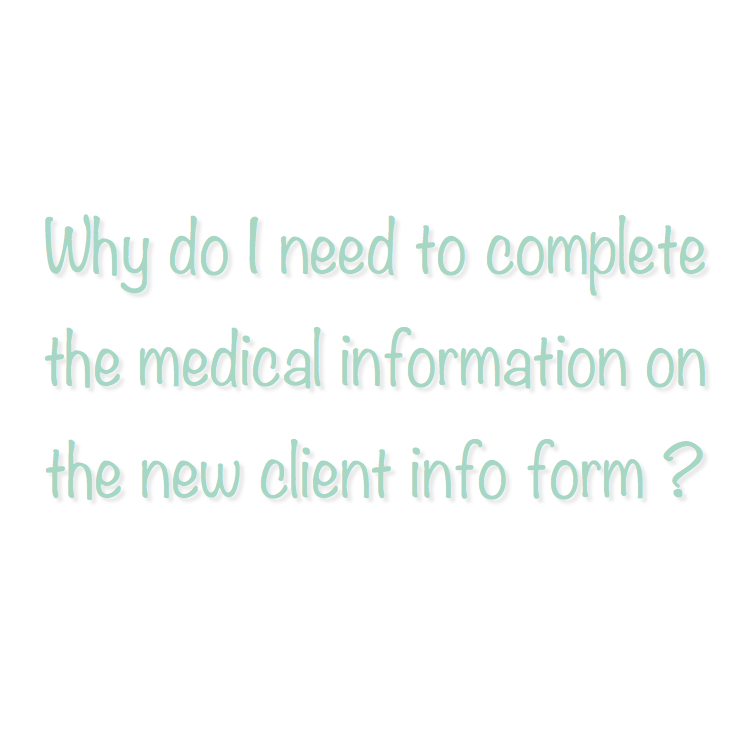 The info on the new client form is a necessity in order to ensure we are providing you with the best and safest Pilates workout for your current level of fitness and functioning. The information you provide on the new client form will be kept strictly confidential and will only be used by instructors to become familiar with a new client prior to a class or equipment session.
