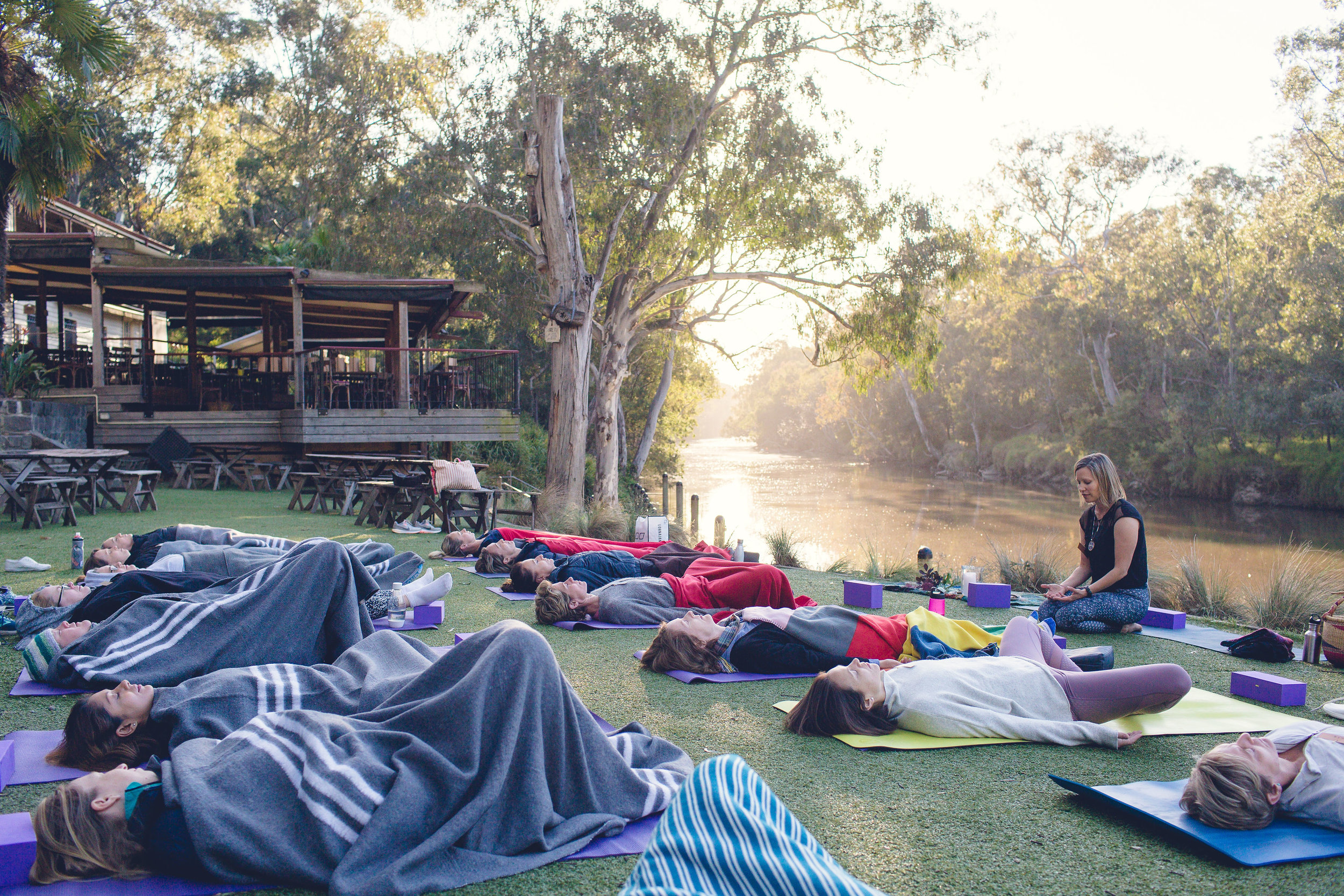 'A Morning Ritual' Hive Social event @  Fairfield Park Boathouse . We raised $1000 for  One Girl , an organisation helping to educate girls in Africa.