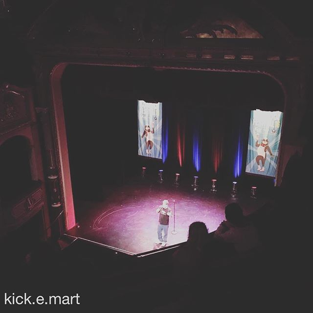 Great shot from the gallery of skater/comedian/full time legend John Cruckshank care of @kick.e.mart  #showcasetour2016 #sydneycomedyfestival #yeeeew #killinit #skate #skatelife #skateboarding #kickemart #hobart