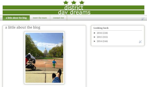 My original District daydreams blog