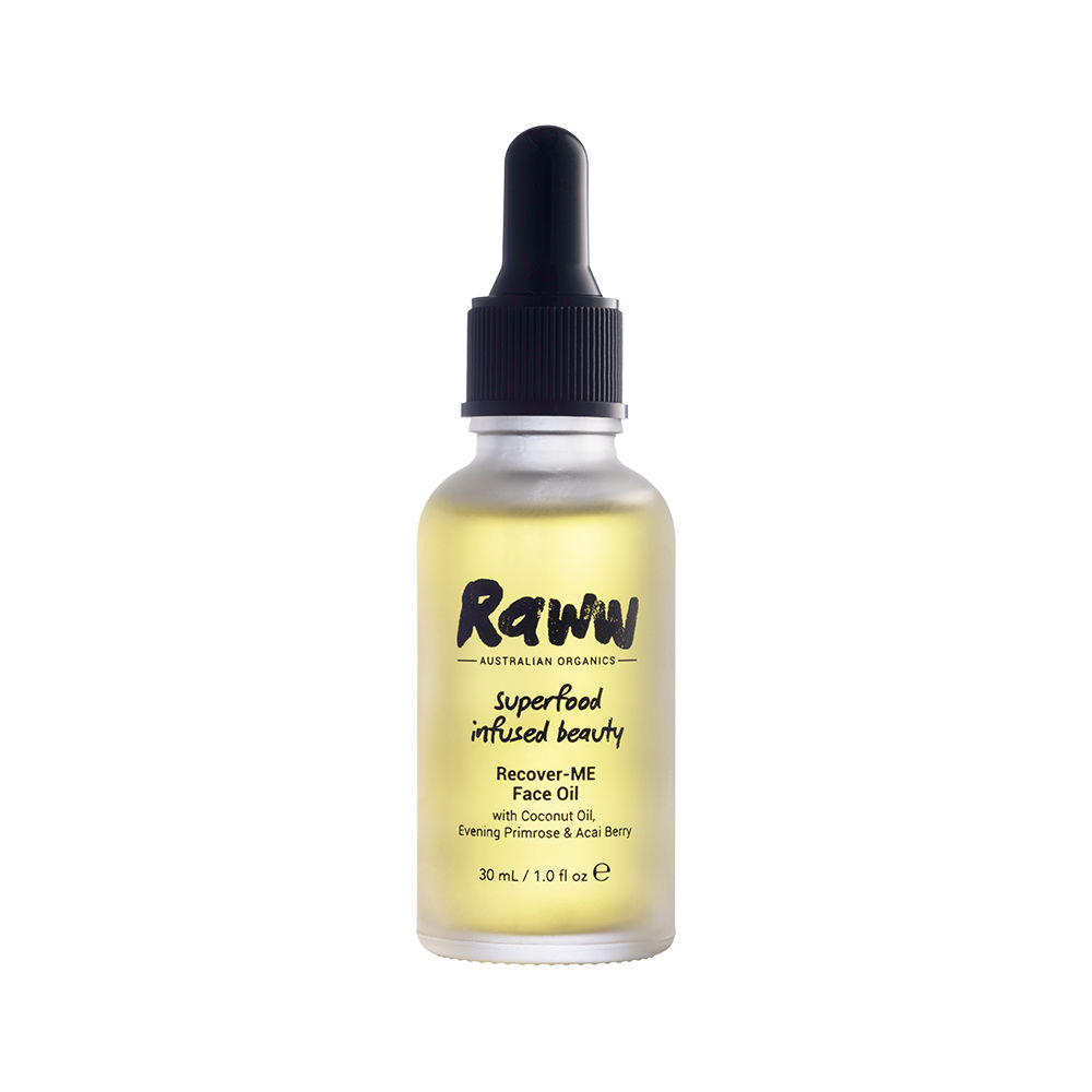 Raww Cosmetics - Recover-ME Face Oil - I love using this face oil when I feel like my skin is in need of an extra boost, particularly in Winter (since the face oil is SO moisturising). A little goes a long way so oI simply use a few drops of it and massage it into my skin after using their purify-me cleanser.