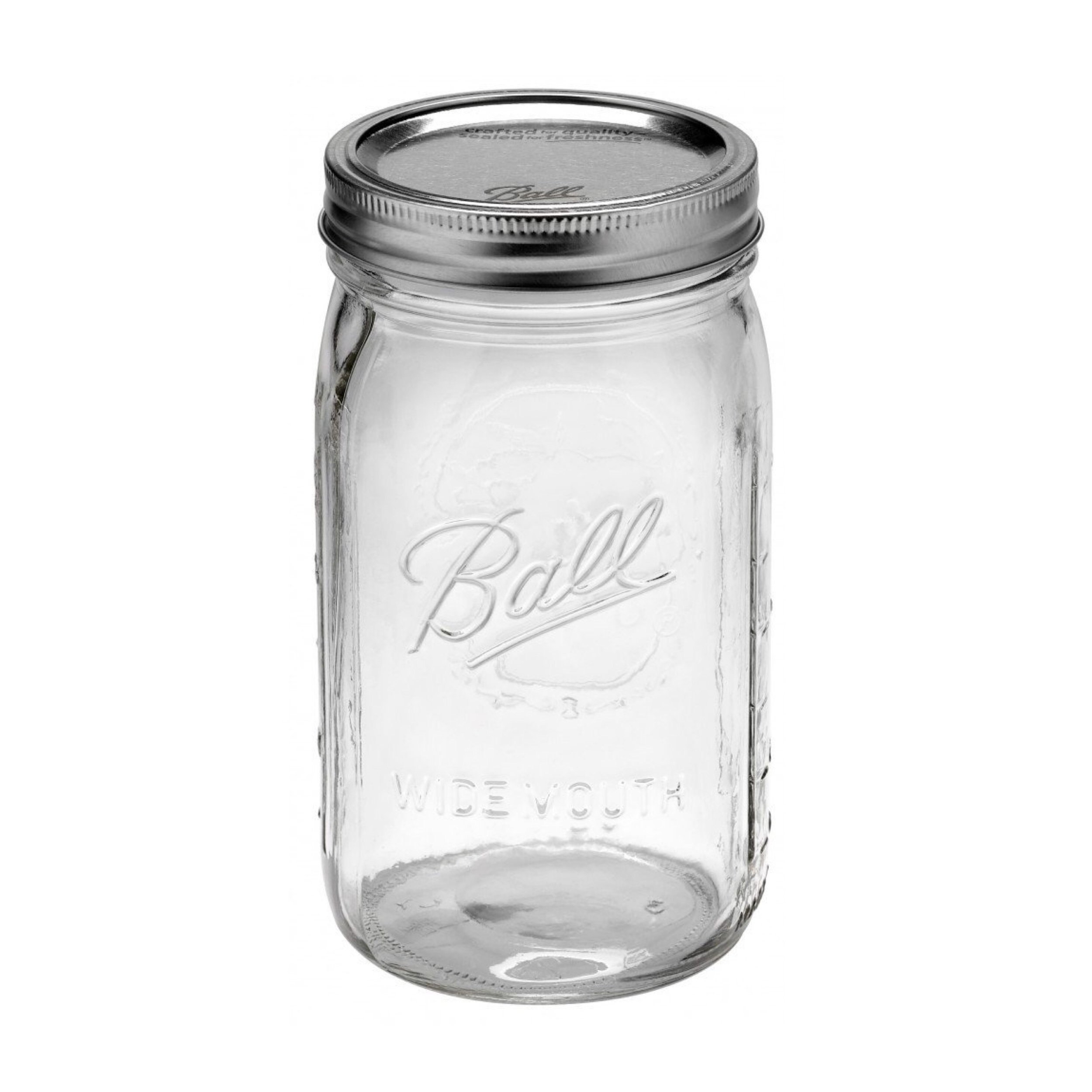 Ball Mason - 32 oz / 950mL Wide Mouth Jars (6 pack) - I've had my ball mason jars for years now and they are so sturdy and versatile! I use them to store my pantry goods (nuts, seeds, flours) but they are also great for storing liquids like fresh juices, smoothies or even simply for water. These 950mL jars are the perfect size and make fridge and pantry organisation so much easier (and of course, plastic-free!).