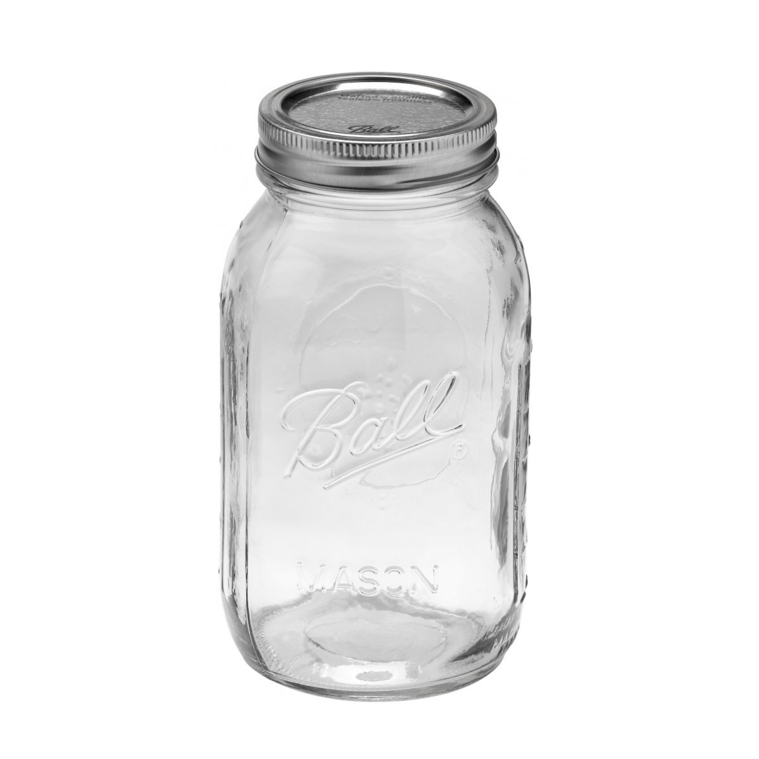 Ball Mason - 32 oz / 950mL Regular Mouth Jars (6 pack) - I currently own both the wide mouth and regular mouth jars. They're both very similar, but it just comes down to preference depending on what you use them for. I find the wide mouth jars better for storing pantry goods (since it's easier to pour ingredients in/out of it) whereas regular mouth ones seem to be better for serving and consuming beverages.