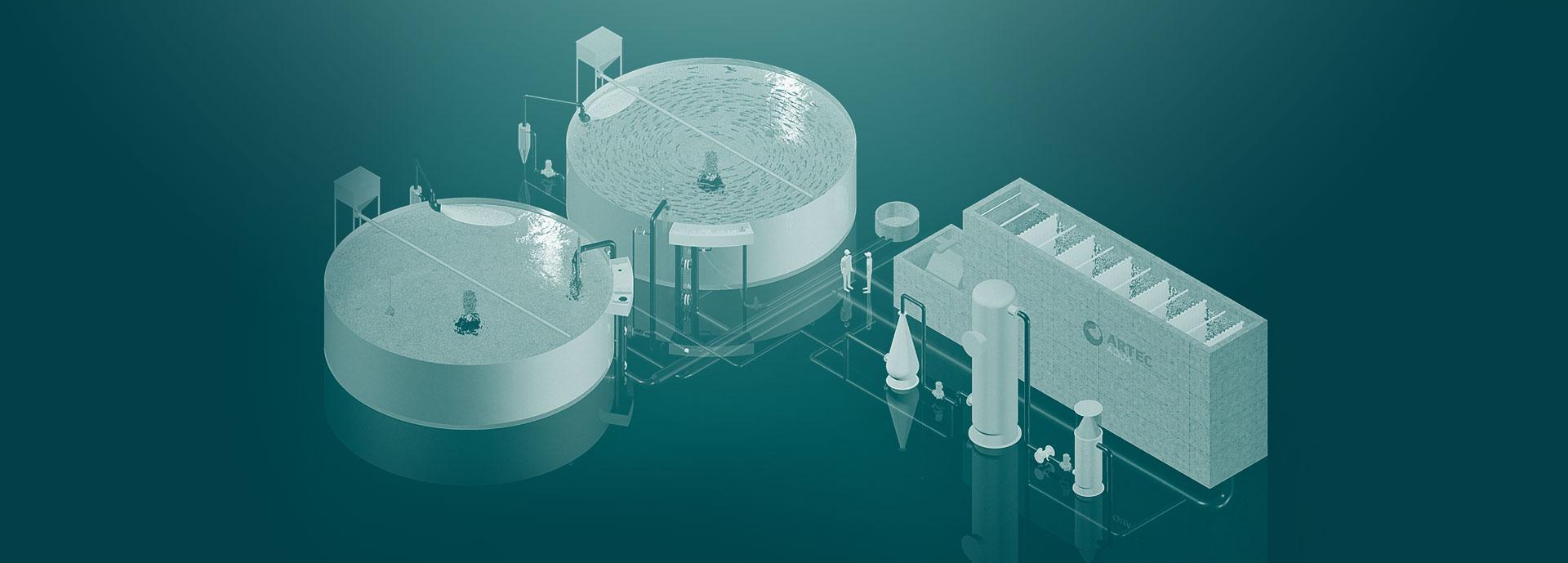 Systemløsninger - Artec Aqua leverer skreddersydde systemløsninger for gjennomstrømnings- gjenbruks- og resirkuleringsanlegg.