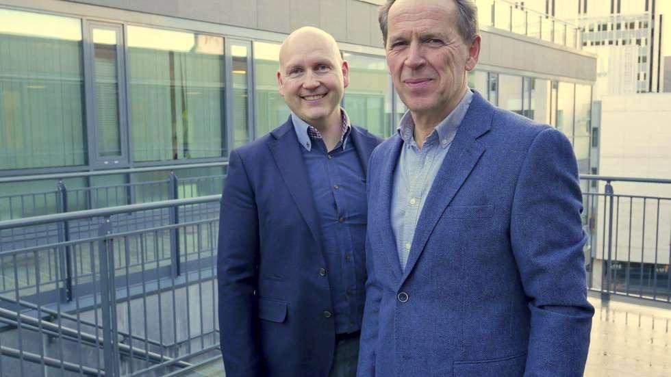 Jan-Inge Sætre (t.v) og Ståle Rasmussen - nå inn som partnere på MRB-laget.