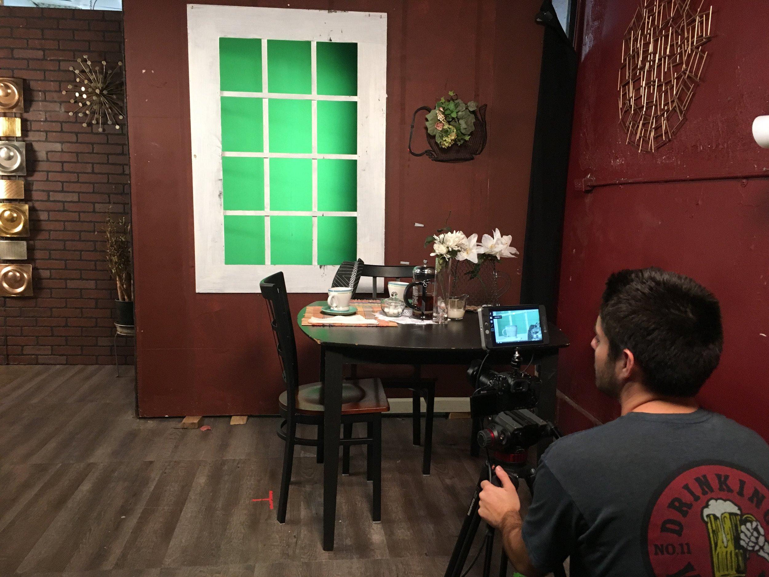 We shot a green screen