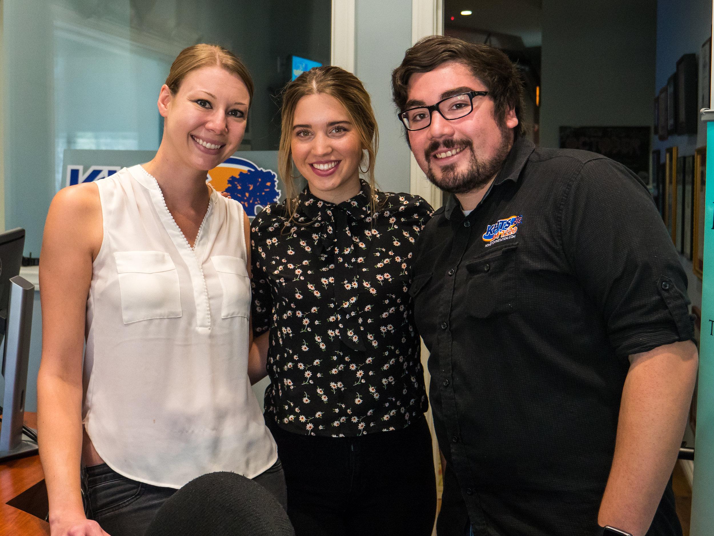 (Left to Right) Features Director Melissa Lampert, Karli Webster, Video Director Andrew Menjivar