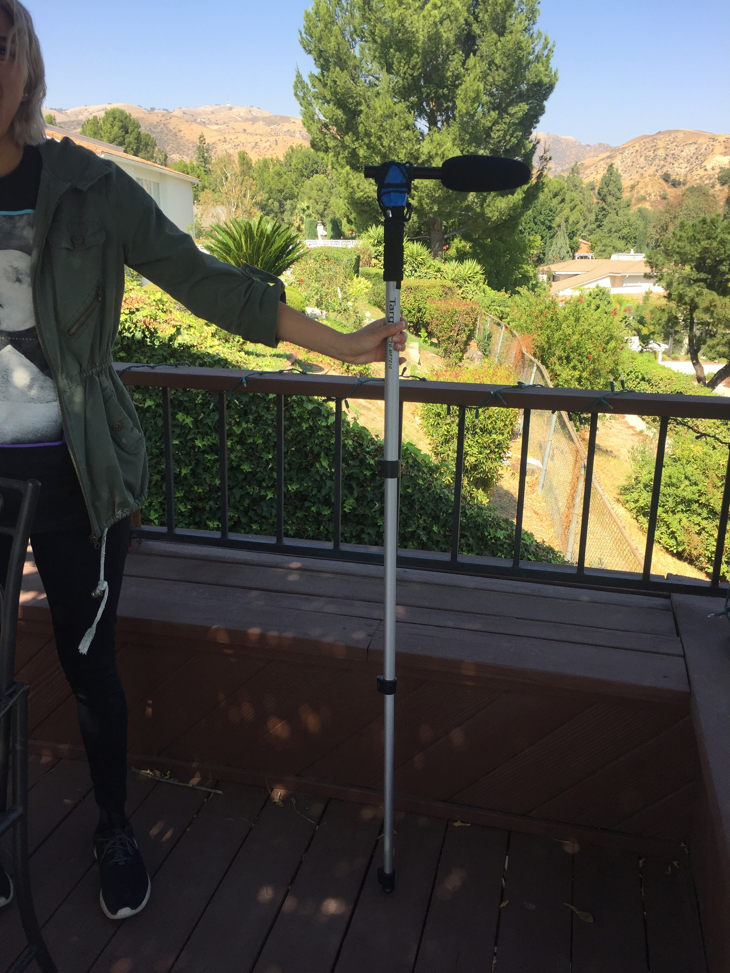 Everything was a DIY solution. Even our boom pole (monopod)!