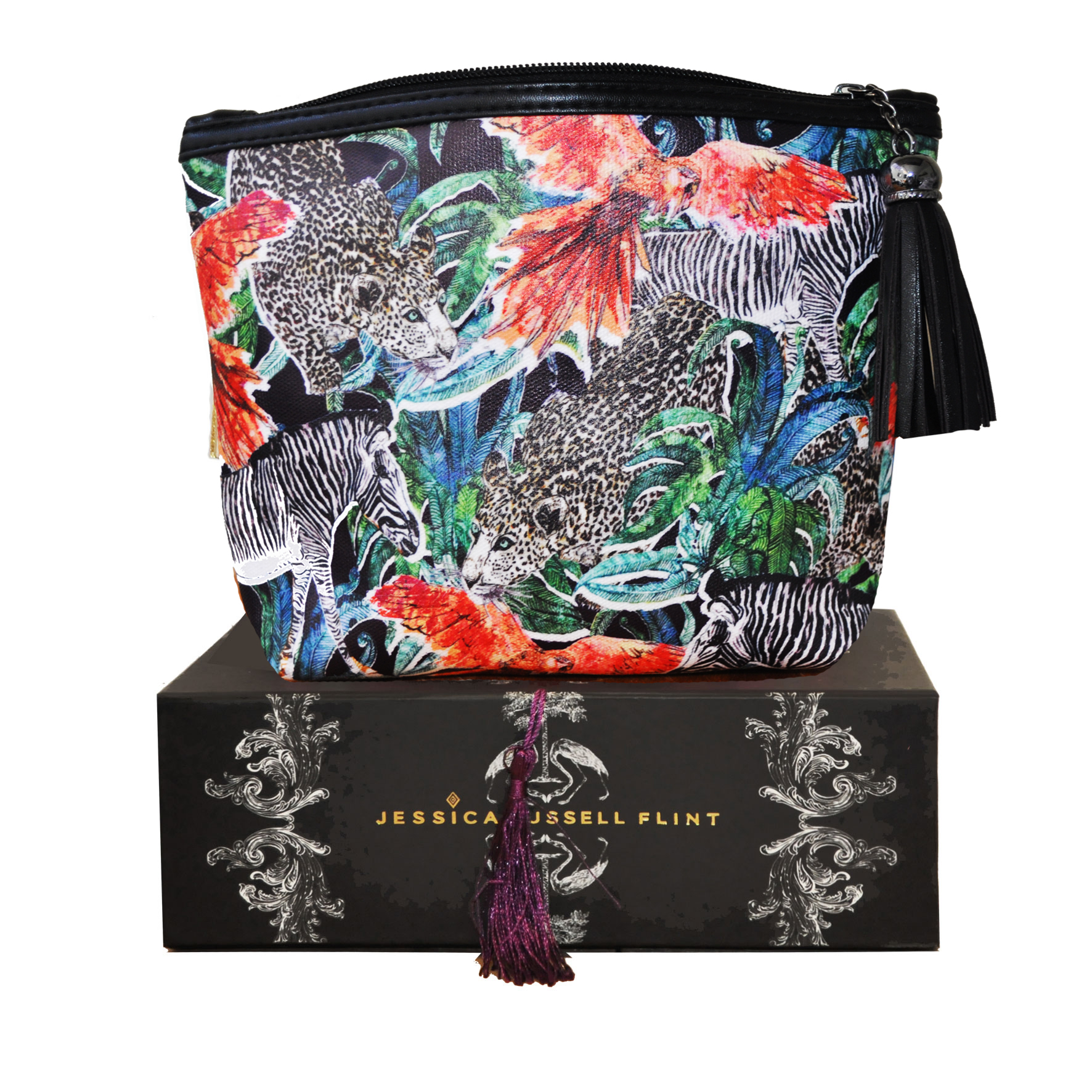 Jessica Russell Flint,  the lifestyle and fashion brand brings unique hand drawn prints to accessories and silk ready-to-wear.