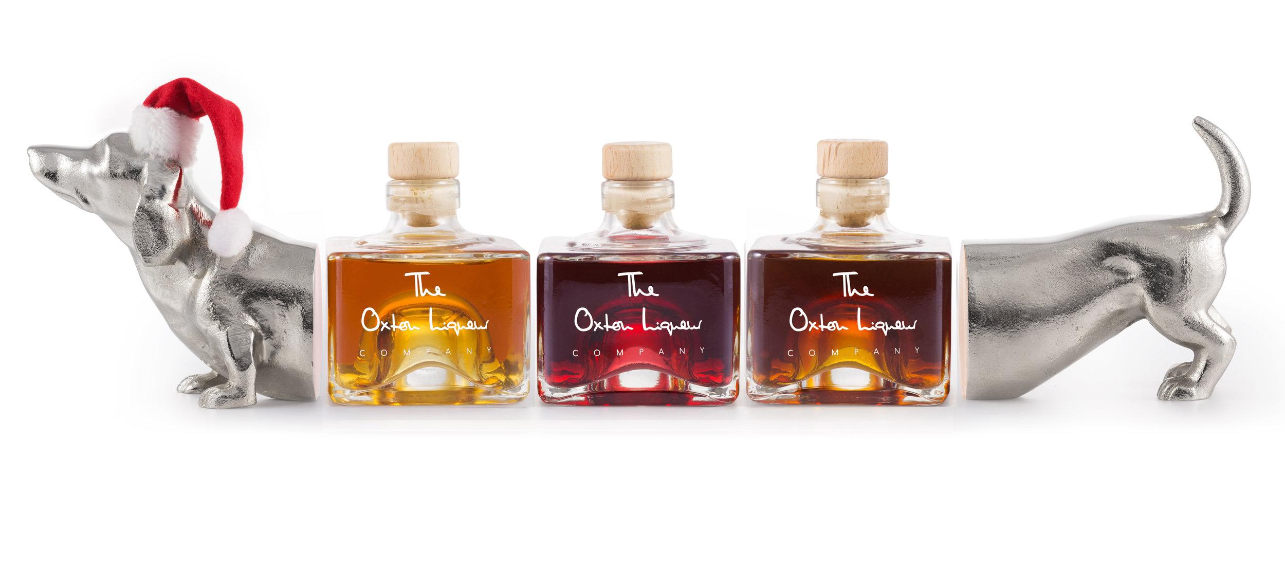Oxton Liqueurs  Fruit liqueurs in personalised bottles.