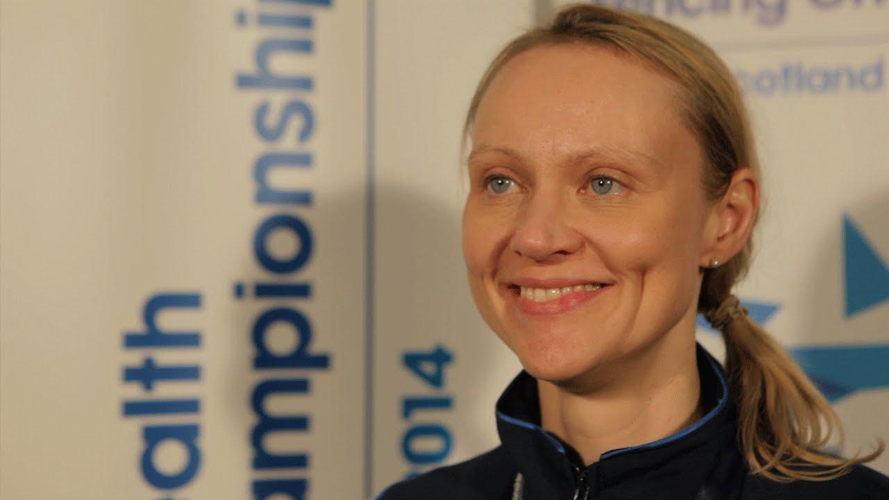 Georgina winning the 2014 Commonwealth Championships