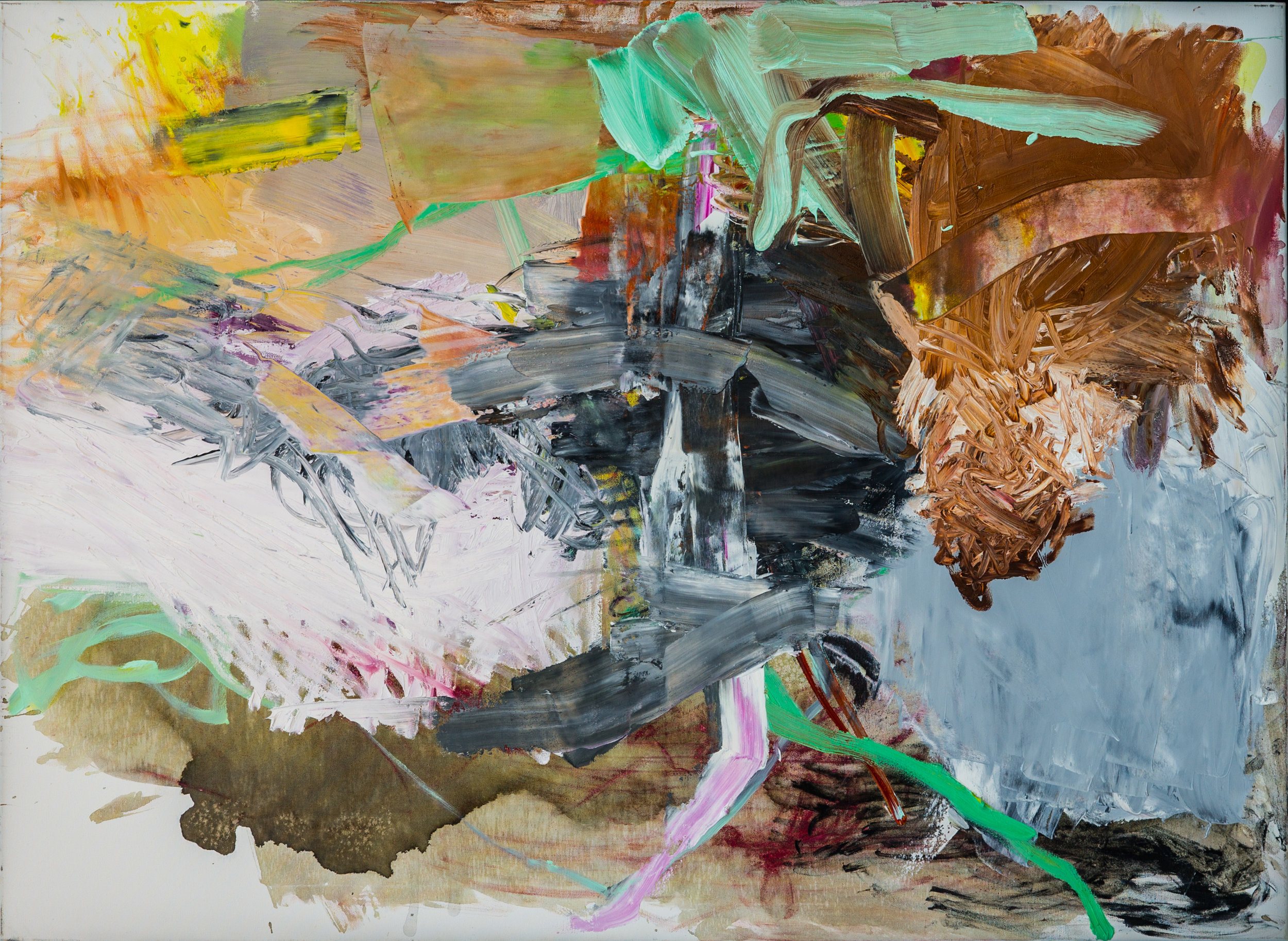 the answer is still the same  100 x 140 cm  oil on canvas