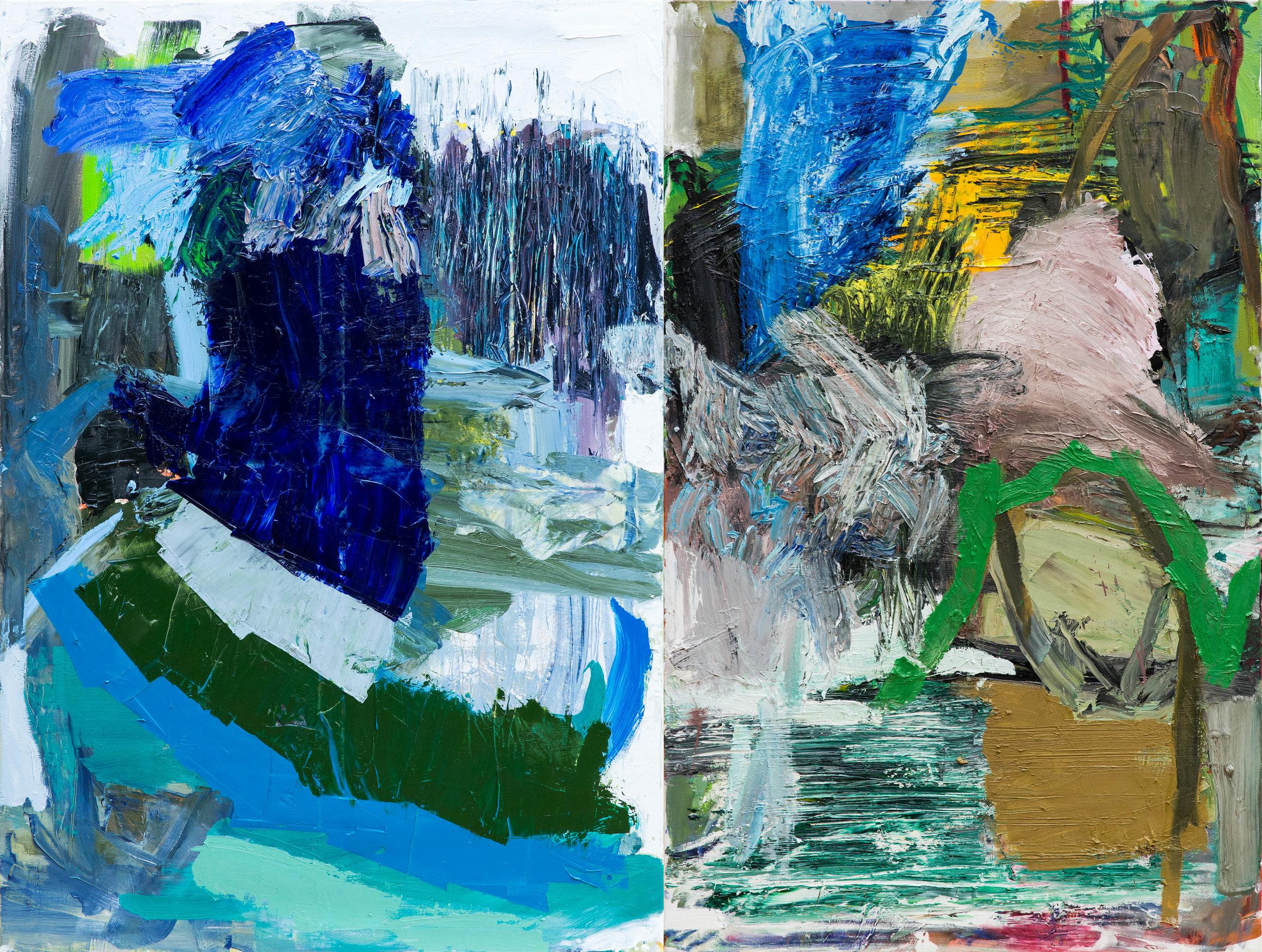 change of season  160 x 210 cm (Diptychon)  oil on canvas