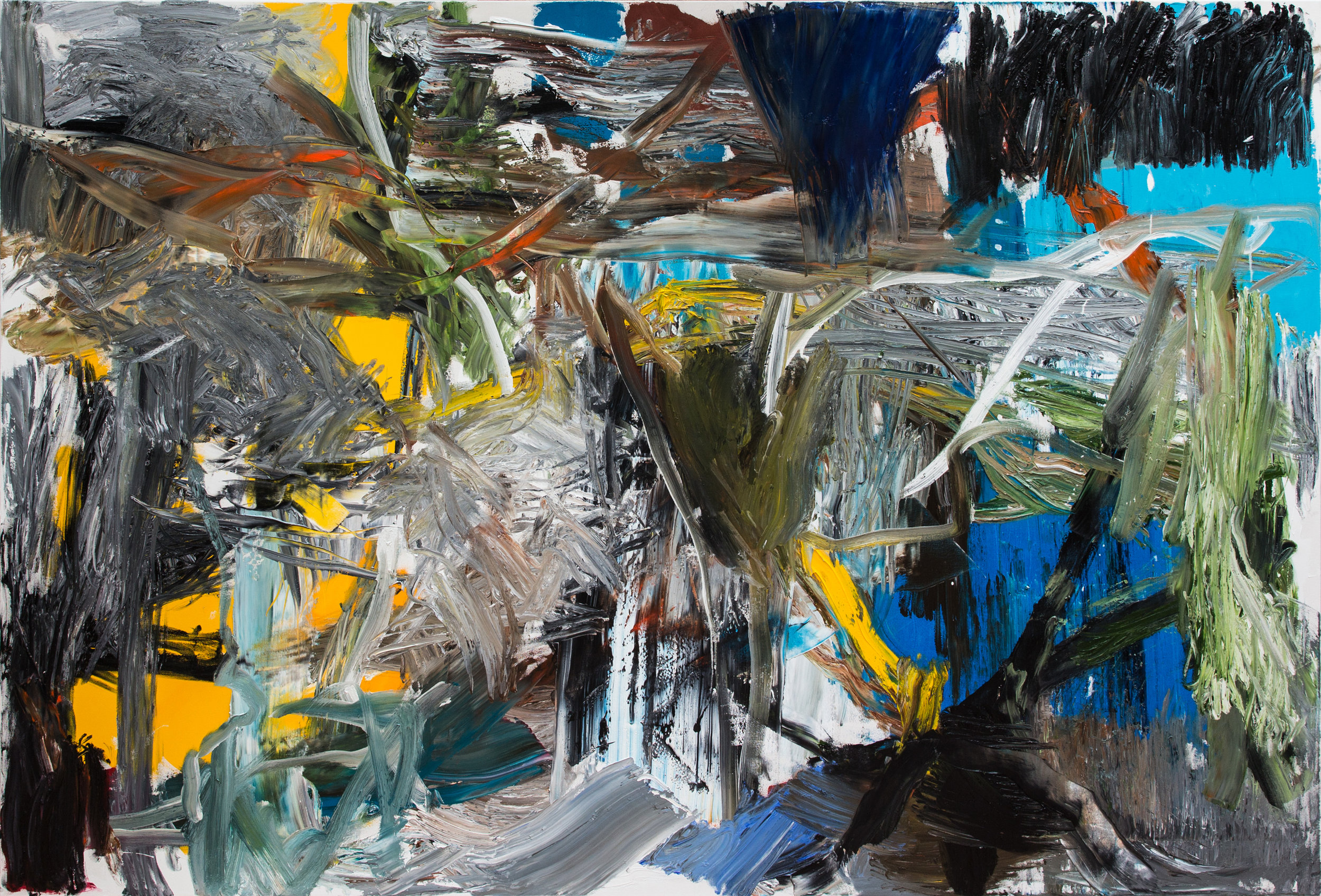 east of midnight  200 x 290 cm  oil on canvas