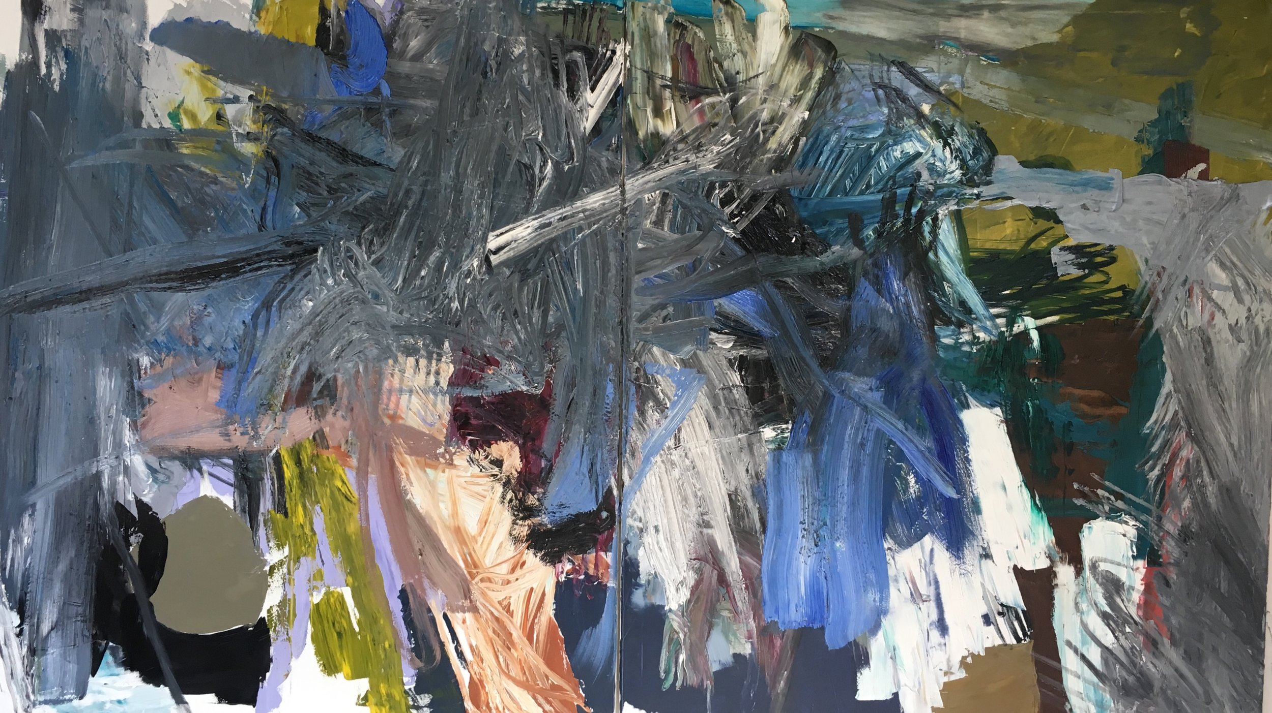 when you say nothing at all  140 x 240 cm Diptychon  oil on canvas