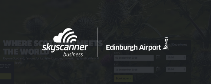 Skyscanner for Business and Edinburgh Airport logos