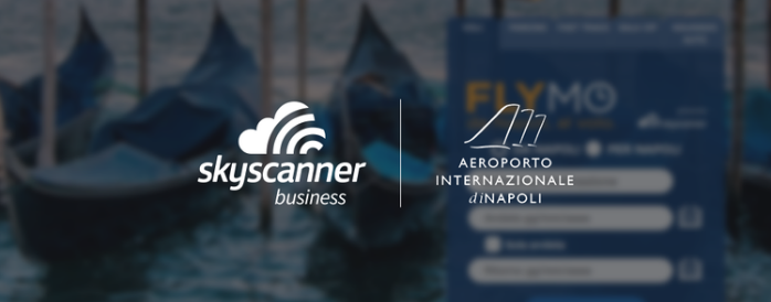 Skyscanner for Business and Naples International Airport logos