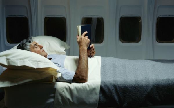 Passenger sleep in the plane