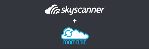 Skyscanner and Roomcloud logos