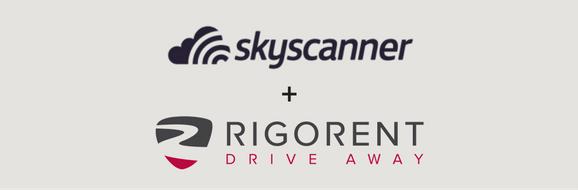 Skyscanner and Rigorent drive away logos