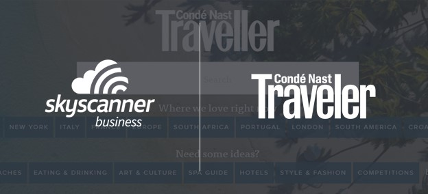 Skyscanner for Business and Conde Nast Traveler logos