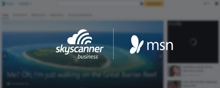 Skyscanner for Business and MSN travel logos