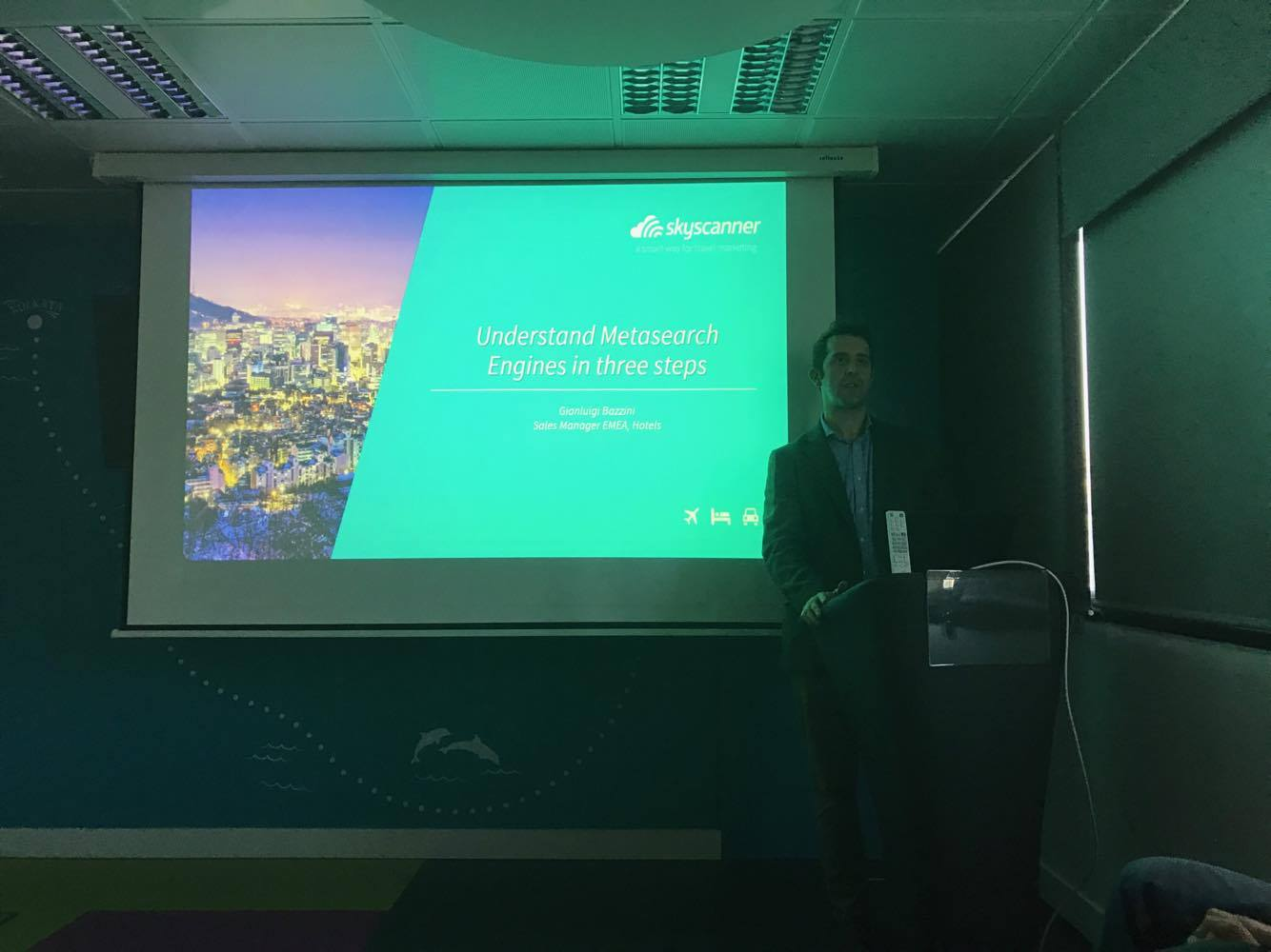 Presentation during Skyscanner's first industry hotels event