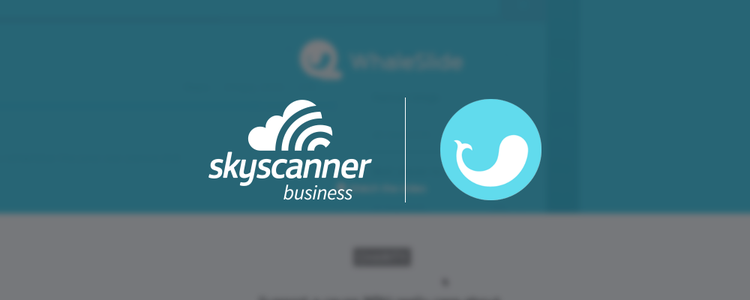Skyscanner for Business and WhaleSlide logos